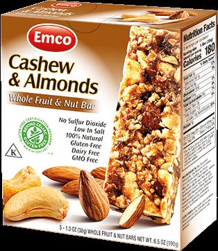 Bar F&N Cashew and almonds 5x38g