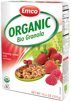 Organic Granola with red fruits 13.2 oz