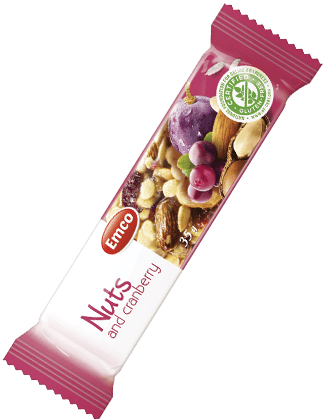 Bar Nuts and cranberries