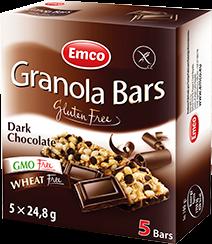 Granola bars – Dark Chocolate 5×24,8g