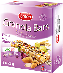 Granola bars – Fruit and Almonds 5×24,8g
