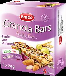 Granola bars – Fruit and Almonds 5×24,8g