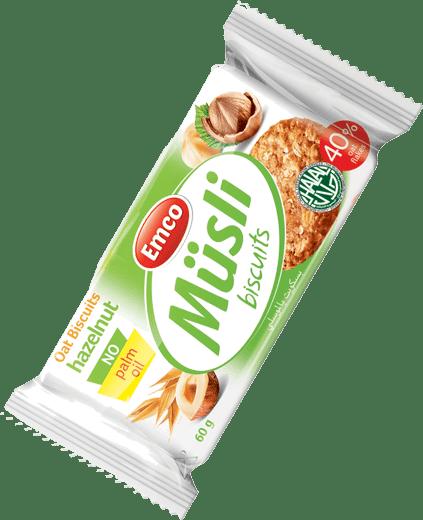 Müsli biscuits hazelnuts