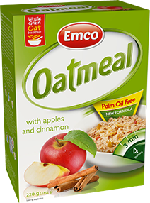 Oat meal – Apple and Cinnamon
