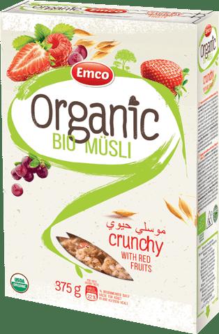 Bio crunchy müsli with red fruits