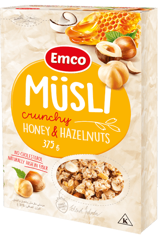 Crunchy müsli with honey and nuts