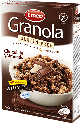 Gluten free Granola with Chocolate and Almonds
