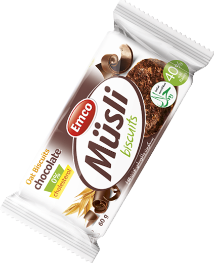 Müsli biscuits chocolate