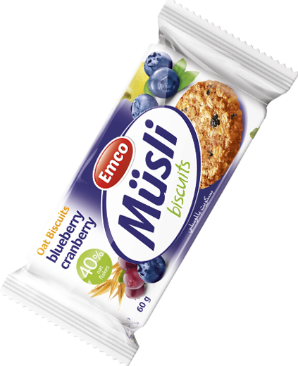 Müsli biscuits blueberry and cranberry