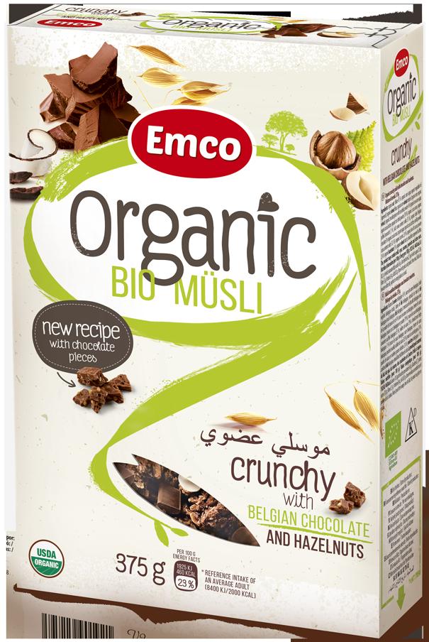 BIO Müsli - čokoláda a lískové oříšky