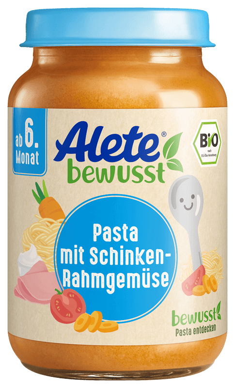 Levně Zelenina s těstovinami a vepřovou šunkou z kýty a plece, BIO